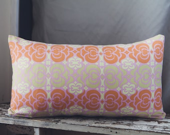 Amy Butler Midwest Modern Rectangle Cushion Cover in Garden Maze Pink