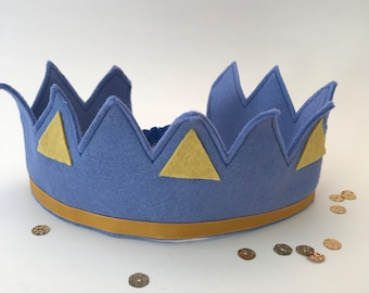 Prince Crown Creative Play Dress Up Felt Crown Prince Party Birthday Party Ideas Photo Props Photography Props Costume