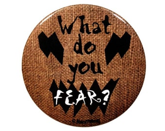 Batman Inspired Scarecrow 2Inch Button: What do You Fear