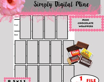 YOU Design!!! Mini Candy Wrapper Template !!