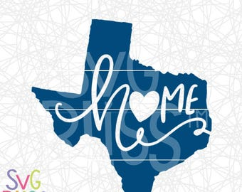 Texas SVG, Home, Handlettered, Heart, Texan, Original, Cute, DXF, Cut File, Cricut & Silhouette Compatible Digital Download File, SVG Bliss