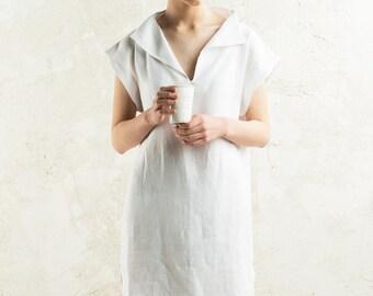 Simple linen dress women 15 colors, Custom dress for women, White linen dress, Short dress, Linen summer dress, Linen women's clothing