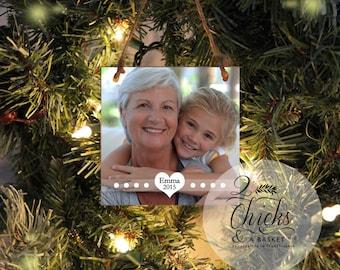 Personalized Christmas Ornament, Photo Ornament, Custom Photo Ornament, Grandma Christmas Gift, Grandma Ornament