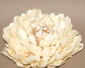 "ENORMOUS (8"") Cream Silk Peony - Artificial Flowers, Silk Flowers"