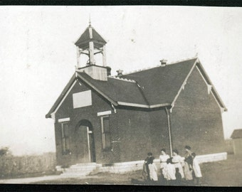 vintage photo Brick One Room School