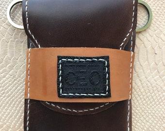 Four Finger Leather Art Stogie Carrier