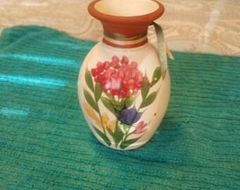 Emerson Creek Pottery Bedford Virginia Flowered Vase