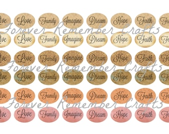 INSTANT DOWNLOAD 12 x 16 Oval Inspirational Sayings 4x6 Template