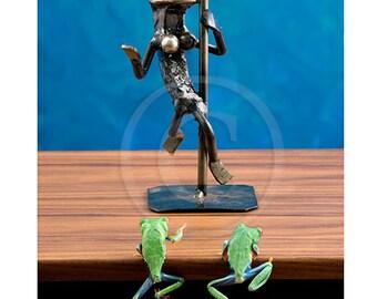 Stripper, Pole Dancer, Funny Frog Photo, Man Cave Art