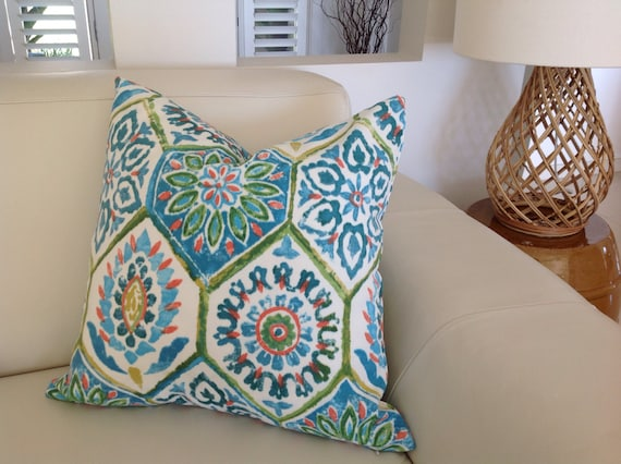 Well-known Outdoor Pillows Blue Green Moroccan Outdoor Cushion Cover JS48
