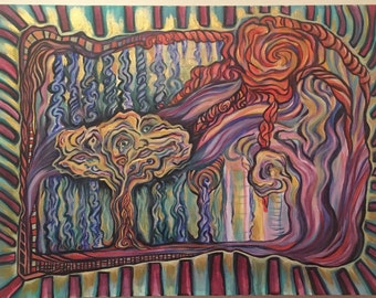 Solar Energy, psychedelic painting