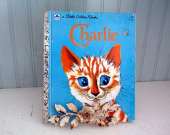Vintage Little Golden Book CHARLIE 1970 by Diane Fox Downs illustrated by Lilian Obligado collectible LGB