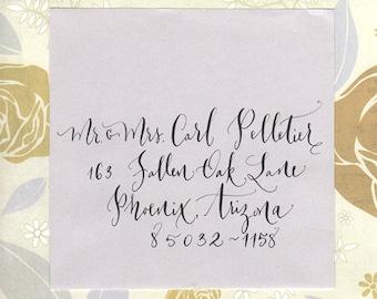 enveloppes de mariage adressage calligraphie à la main lettrage