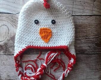 baby chicken hat, crochet rooster hat, crochet newborn  chicken hat, rooster hat, toddler chicken hat, baby rooster hat, chicken Halloween