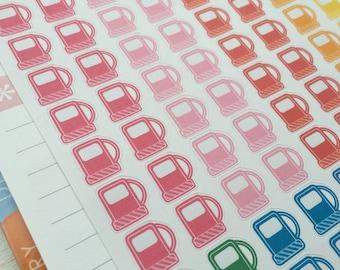 Gas station stickers, gas pump, gas pump stickers, gas stickers, colorful stickers, cute stickers, reminder stickers, planner stickers