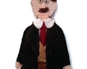 Jung felt finger puppet
