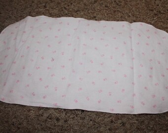 Pink Flower Burp Cloth with Minky