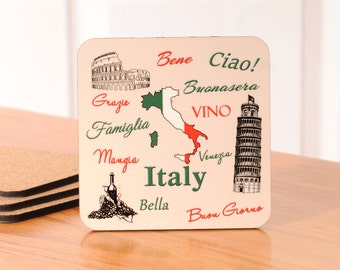 Italy Coasters - set of 4
