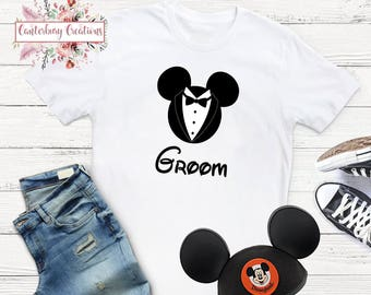 Disney Groom Shirt   Disney honeymoon matching disney disney shirts disneymoon honeymoon disney bride disney groom disney wedding