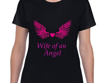 Wife Of An Angel Pink Wings T Shirt