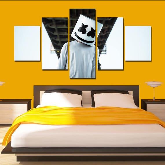 Marshmello Canvas Art Marshmello poster print 5 panel home art