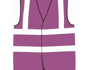 Purple Hi Visibility Reflective Safety Vest Hi Viz Ideal for Printing or Embroidery Great for Riding Walking or Running