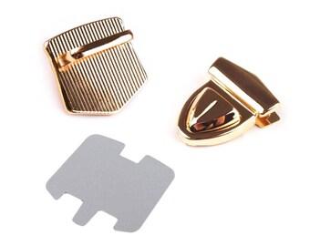 Mappenschloss Pocket Cap 33 x 41 mm Gold