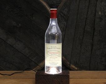 Pappy Van Winkle Lot B (12 Year) Bourbon Light / Whiskey Bottle Glorifier / Whiskey Lover Gifts / Bourbon Gifts, Bourbon Lamp, Bar Lamp