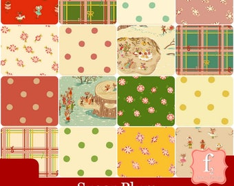PREORDER - Heather Ross - Sugar Plum - Fat Quarter Bundle (16 piece) Windham Fabrics