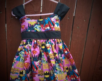Size 3/4T girl super hero sundress