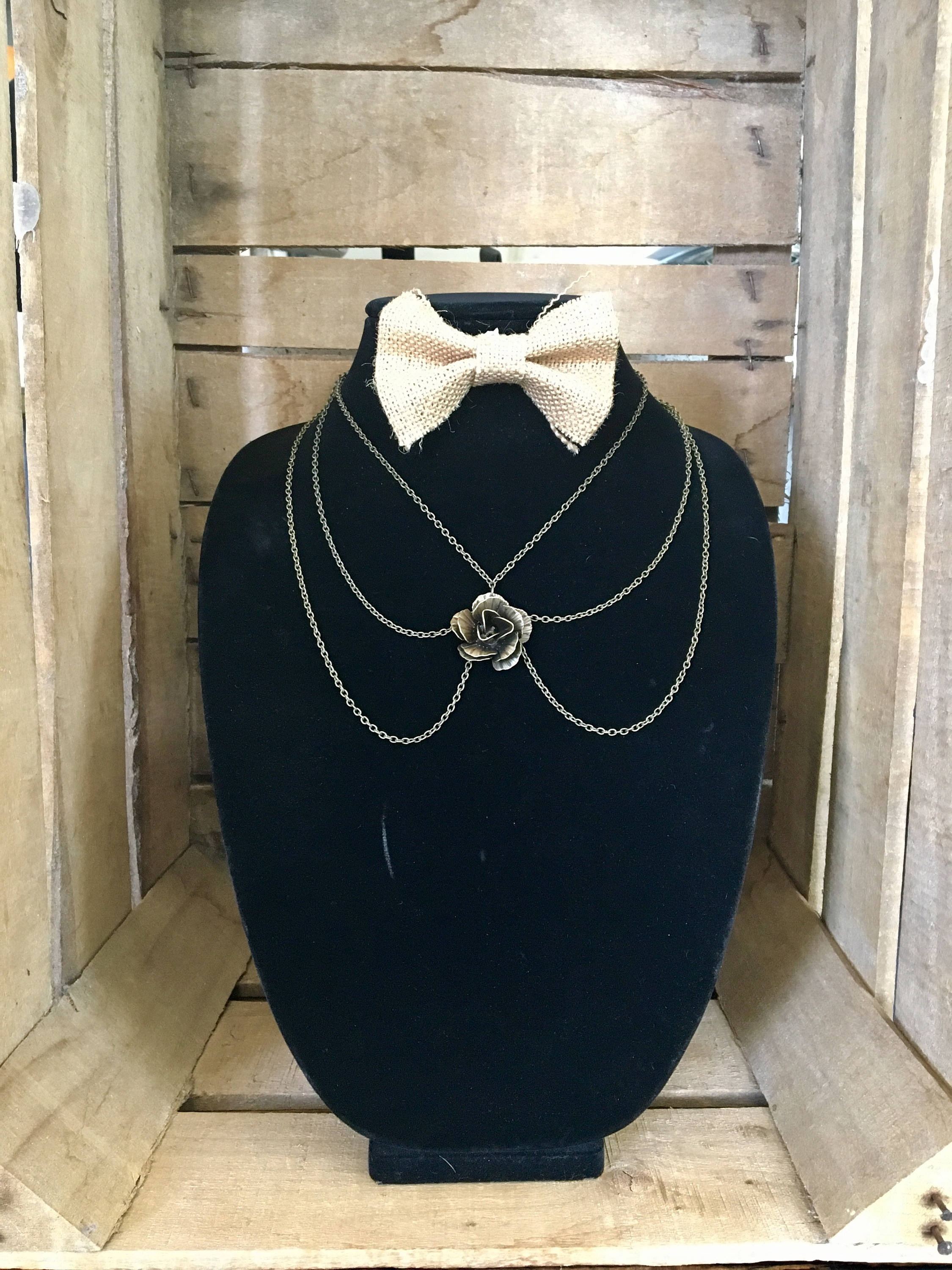 clovis three tier necklace blue index