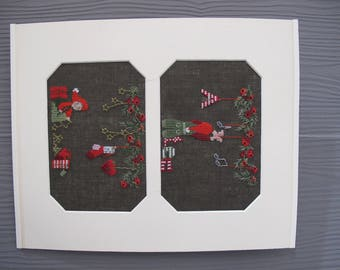 "Embroidered cross stitch picture ""Advent and Christmas"""