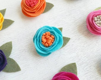 Lovely Felt Flower Clippies