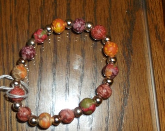 Multi Color Clay Bead Stretch Elastic Bracelet