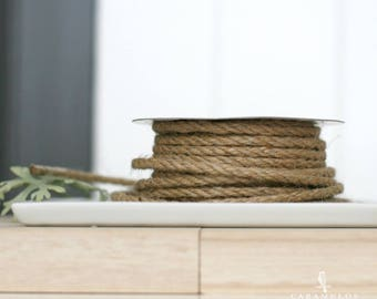 25' Natural Jute Wired Rope - Cord