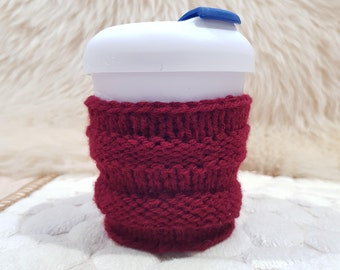 2 for 15 - Coffee Cozy - Knit Cup Cozy - Cup sleeve - Tea cozy - washable - Coffee and tea lover
