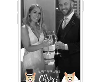 Custom Your Dog Wedding Snapchat Filter | Custom Pet Wedding Snapchat GeoFilter | Happily Ever After Snapchat GeoFilter
