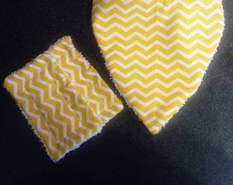 Yellow bandana bib