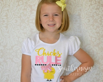 Easter Shirt, girls Easter Shirt, Monogram Easter Shirt, Personalized Easter Shirt, Chicks Rule, Easter Shirt, Girl Easter, Baby Easter