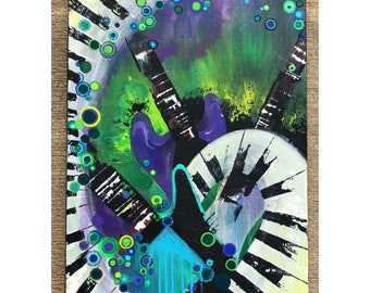 18 x 24 Acrylic Guitar Painting