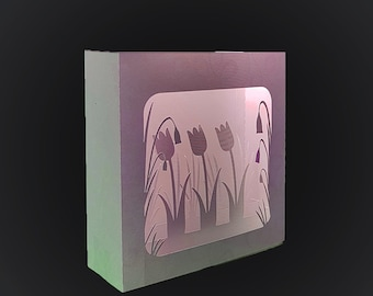 Springtime themed greetings card 3D box card