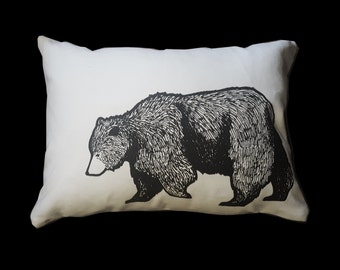 Grizzly Bear Travel Pillow or Decorative Pillow