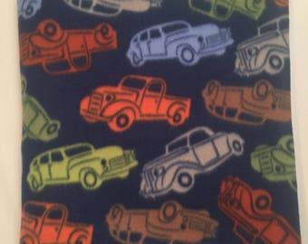 Old Fashioned Cars & Trucks Fleece Blanket - Extra Large