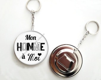 Keychain bottle opener - 56mm - man