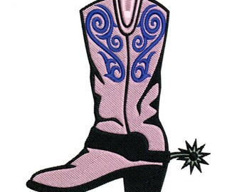 Embroidery Designs Cowgirl Boot Pink Cowgirl Boot