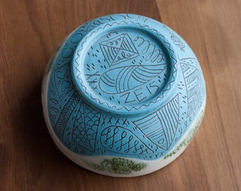 Bowl - Dinnerware - Illustrated - Folk - Nature
