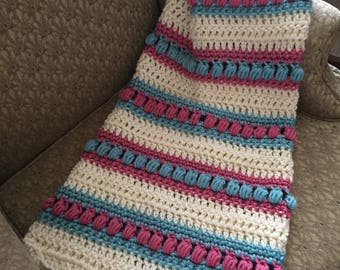 Pink and Seafoam Baby Afghan