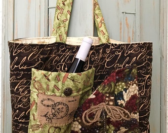 One of a kind Farmer's Market Tote / shopping Bag
