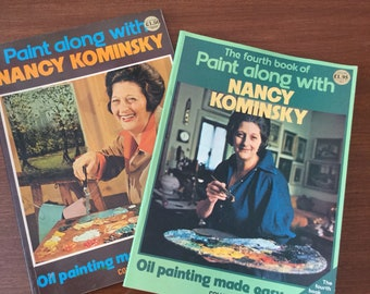 Vintage 1974 And 1977 Pair Of Nancy Kominsky Books - Oil Painting Made Easy