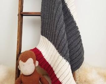 Knitted Stroller/Car Seat Blanket